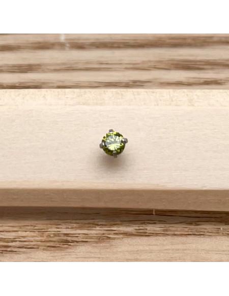 Barbell plateau 1.2/6 argent brillant 3mm vert