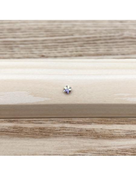 Piercing nez barbell angle brillant étoile chromée