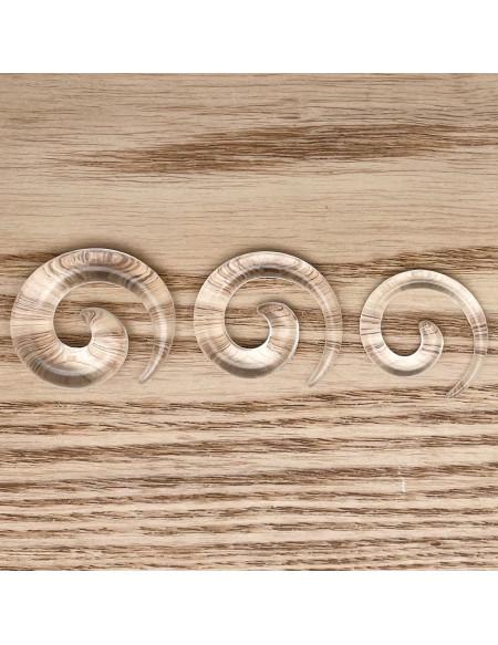 Ecarteur spirale transparent 1pcs