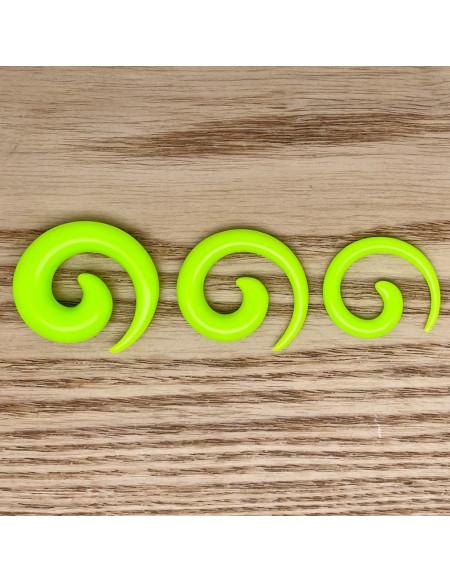 Ecarteur spirale vert fluo 1pcs