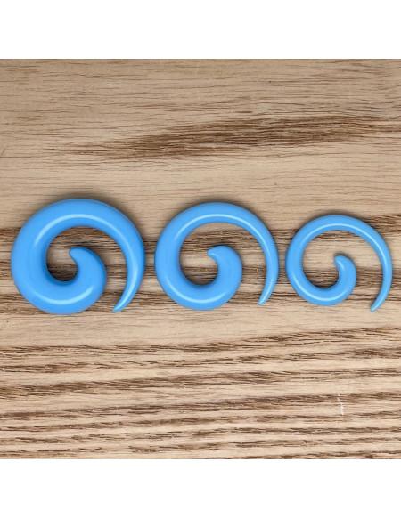 Ecarteur spirale bleu 1pcs