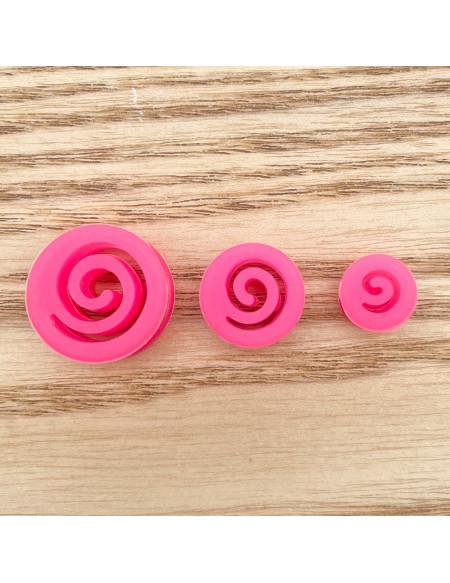 Ecarteur tunnel Silicone spirale rose 1pcs