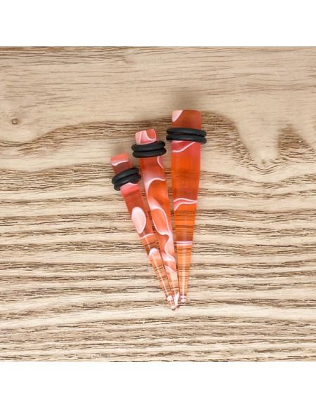 Ecarteur transparent effet marbre rouge 1pcs