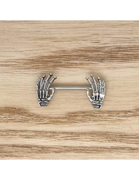 Téton mains argent 19mm