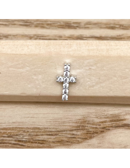 Barbell plateau 1.2/8 croix brillant argent
