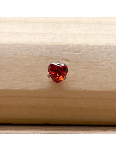 Barbell boule 1.2/6 cœur brillant rouge