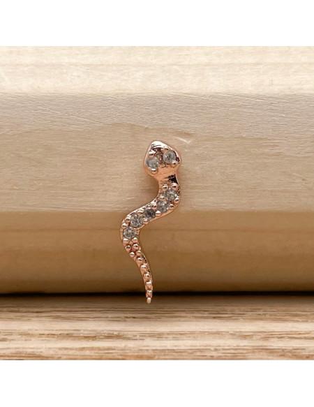 Barbell boule 1.2/6 serpent rose gold