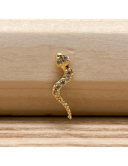 Barbell boule 1.2/6 serpent doré