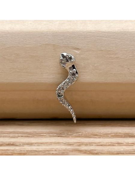 Barbell boule 1.2/6 serpent argent