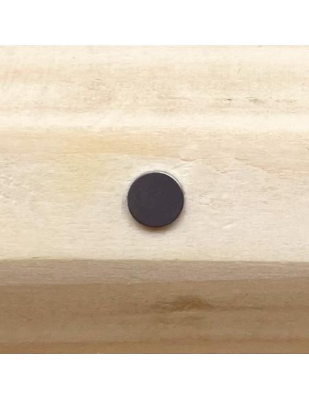 Microdermal titane plaque argentée
