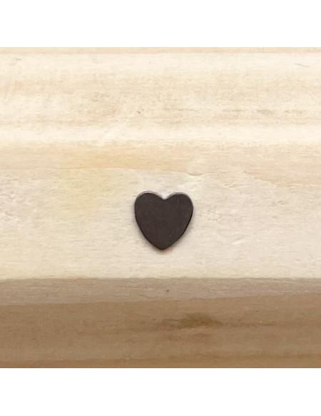Microdermal titane plaque cœur argentée