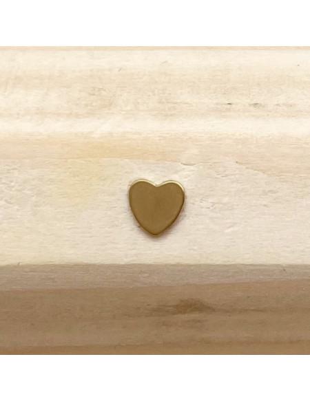 Microdermal titane plaque cœur dorée