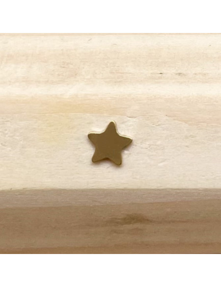 Microdermal titane plaque étoile dorée