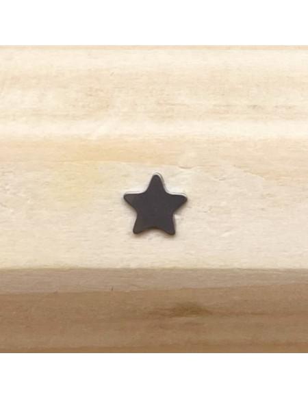Microdermal titane plaque étoile argentée