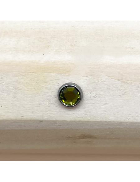 Microdermal brillant vert 4mm