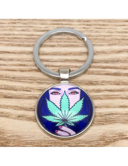 Porte clef cannabis
